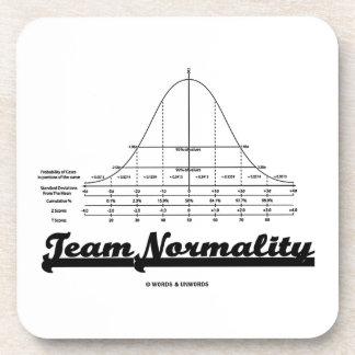 Team Normality (Bell Curve Statistics Humor) Beverage Coaster