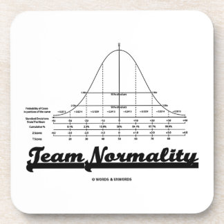 Team Normality Bell Curve Statistics Humor Coaster