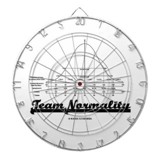 Team Normality Bell Curve Statistics Humor Dart Boards