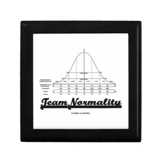 Team Normality Bell Curve Statistics Humor Trinket Box