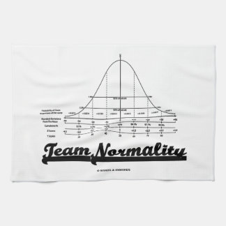 Team Normality Bell Curve Statistics Humor Towels