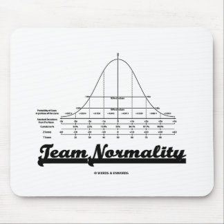 Team Normality (Bell Curve Statistics Humor) Mouse Pad
