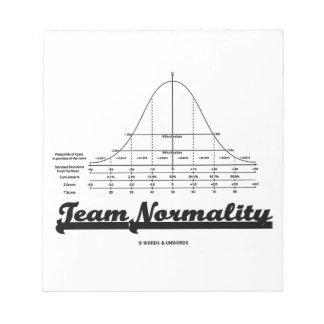 Team Normality Bell Curve Statistics Humor Memo Pad