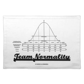 Team Normality Bell Curve Statistics Humor Place Mats
