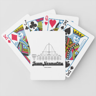 Team Normality Bell Curve Statistics Humor Bicycle Card Deck