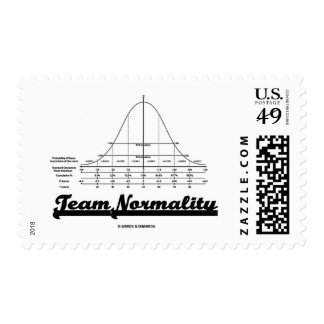 Team Normality (Bell Curve Statistics Humor) Postage Stamp