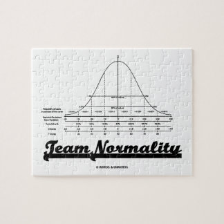 Team Normality Bell Curve Statistics Humor Puzzle
