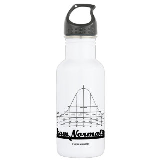 Team Normality (Bell Curve Statistics Humor) Stainless Steel Water Bottle
