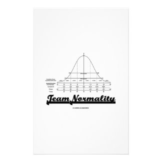 Team Normality Bell Curve Statistics Humor Personalized Stationery