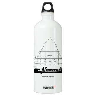 Team Normality (Bell Curve Statistics Humor) Water Bottle