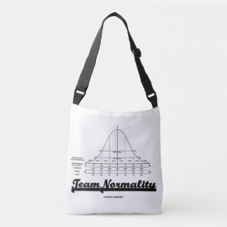Team Normality Normal Distribution Curve Humor Crossbody Bag