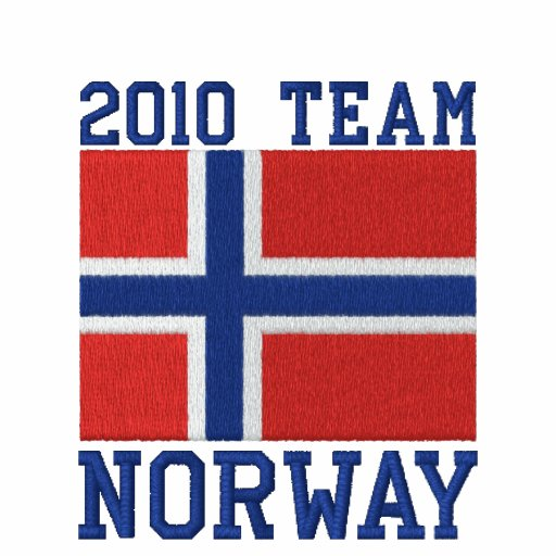 Team Norway 2010 Dated Embroidered Hooded Sweatshirt