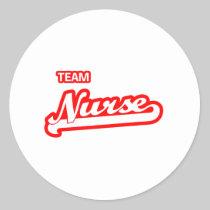 Team Nurse Classic Round Sticker