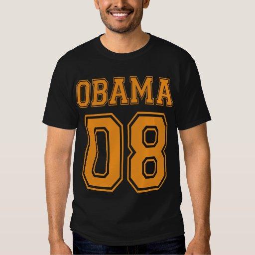 Team Obama 08 Varsity Style Halloween Colored Shirt