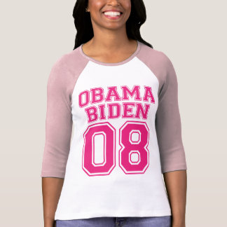 Team Obama Biden 08 Pink Graphic Design Shirt