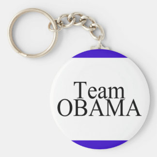Team Obama-Black Keychain