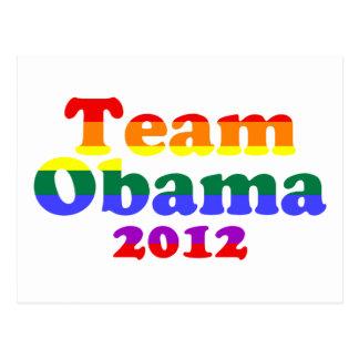 Team Obama Gay Pride Rainbow Postcard