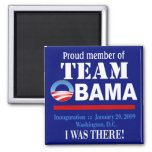 Team Obama - I Was There Magnet (navy)