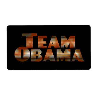 Team Obama Label