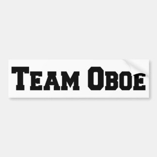 Team Oboe Bumper Sticker