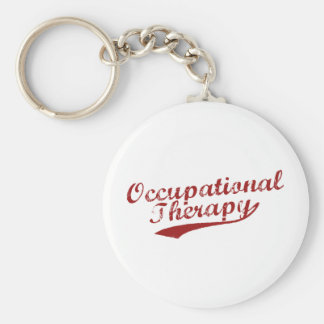 Team Occupational Therapy Basic Round Button Keychain