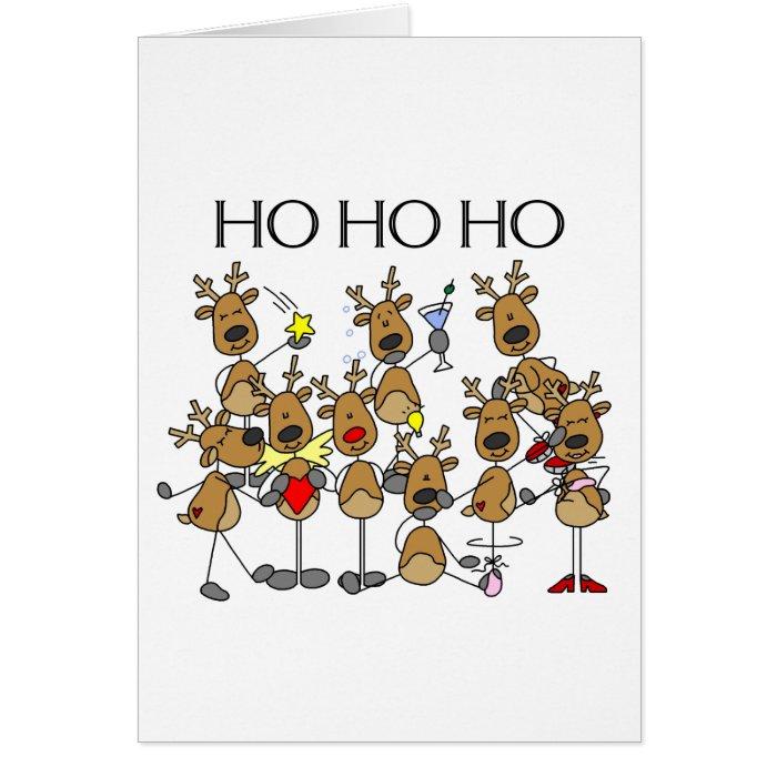 Team of Reindeer Card