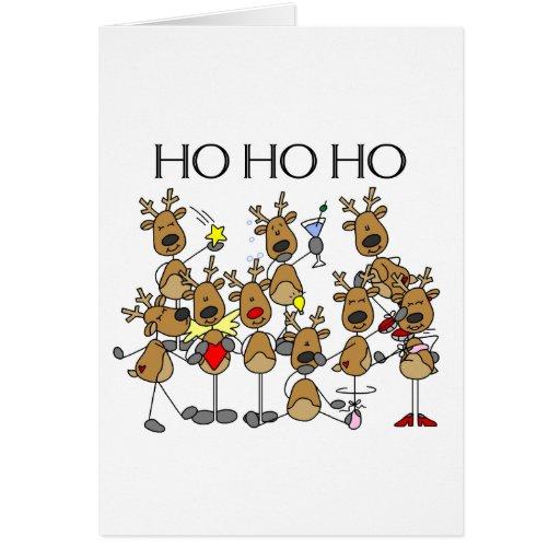 Team of Reindeer Greeting Card