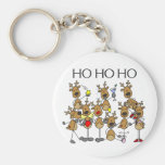 Team of Reindeer Tshirts and Gifts Basic Round Button Keychain