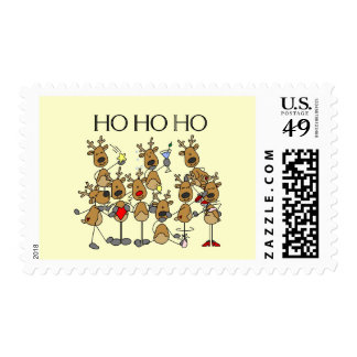 Team of Reindeer Tshirts and Gifts Stamps