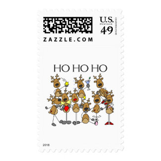 Team of Reindeer Tshirts and Gifts Postage Stamps