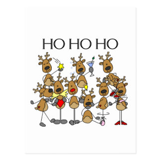 Team of Reindeer Tshirts and Gifts Postcard