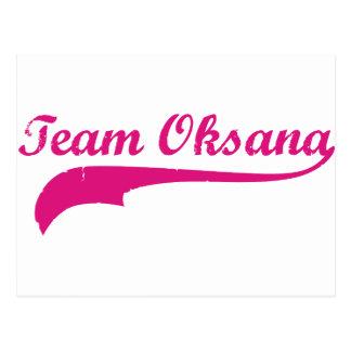 Team Oksana Postcard
