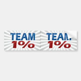 Team One Percent, Anti-Occupy Decal Bumper Sticker