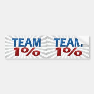 Team One Percent, Anti-Occupy Decal Bumper Sticker Car Bumper Sticker