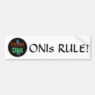 Team Oni Bumper Sticker