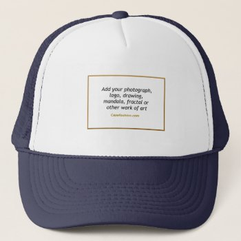 Team Or Sports Hat Blue With Your Artwork by Casefashion at Zazzle