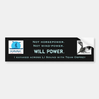 Team Osprey Willpower Bumper Sticker