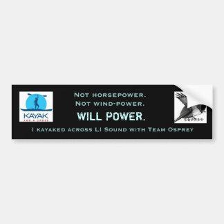 Team Osprey Willpower Bumper Sticker Car Bumper Sticker