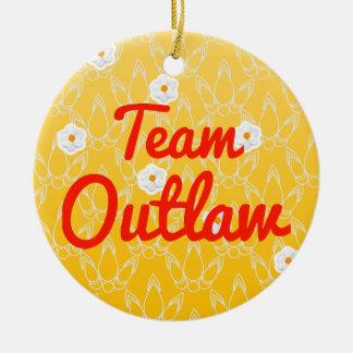 Team Outlaw Ceramic Ornament