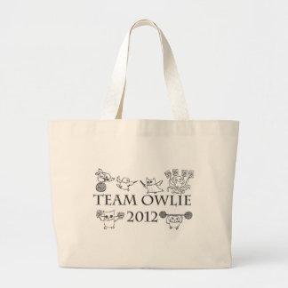 Team-owlie-2012 Large Tote Bag