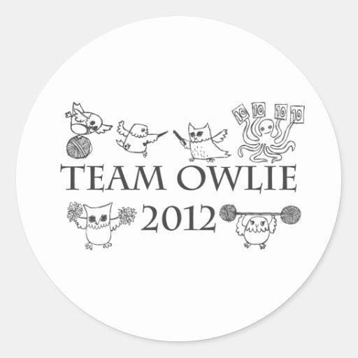 Team-owlie-2012 Pegatina Redonda