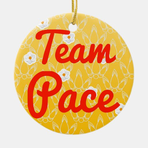 Team Pace Christmas Ornaments