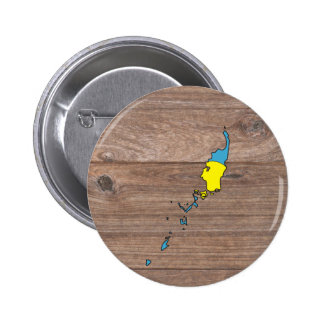 Team palau Flag Map on Wood 2 Inch Round Button