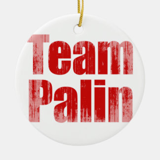 Team Palin 1 Faded png Christmas Ornament