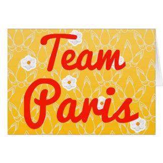 Team Paris Greeting Cards