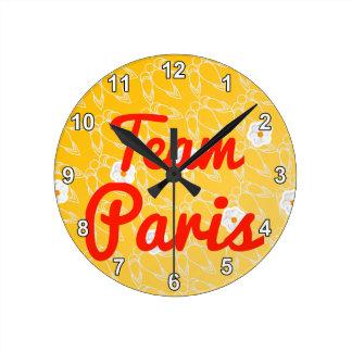Team Paris Round Clocks