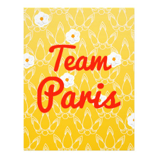 Team Paris Full Color Flyer