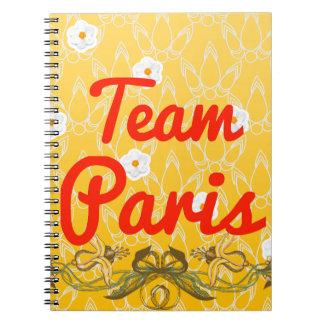 Team Paris Spiral Note Books