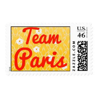 Team Paris Postage Stamps