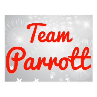 Team Parrott Post Card